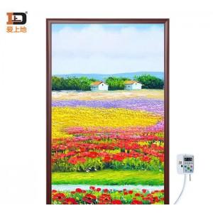 爱上地碳晶电暖器取暖器 温控电热板壁画墙暖 单片 花海