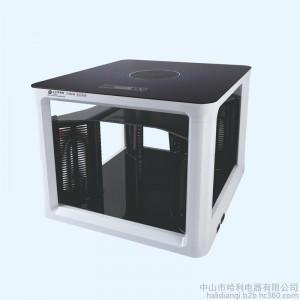 供应黔阳取暖桌电暖器QY-B802黑色多功能取暖炉 取暖烤火桌炉 八面取暖电暖气取暖桌