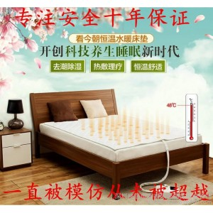 水暖床垫厂家 水暖毯 看今朝双人水暖毯智能防水家用水暖床垫可调温恒温超静音水暖电热毯包邮