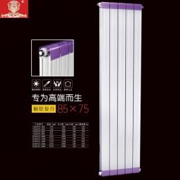 罗萨德散热器   铜铝复合85X75散热器