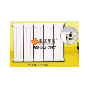 双水道132x60铜铝复合散热器