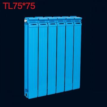 铜铝复合75X75散热器|光浦散热器