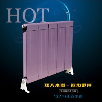 铜铝复合132X60双水道散热器