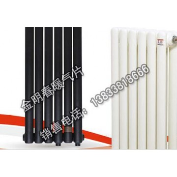 金明春 厂家钢制暖气片 钢制散热器 钢二柱暖气片优质低碳钢