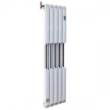圣蒂罗澜散热器 铜铝复合80x80散热器剖面图