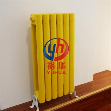钢制二柱暖气片5025 立式双柱 家用彩钢卧室集中供暖