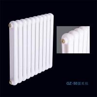 吉林暖气片加工设备 散热器多少钱一组 钢制50圆双柱散热器