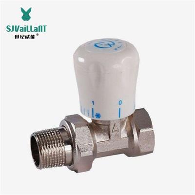 吉林散热器温控阀生产厂家世纪威能 手动温控阀工作原理