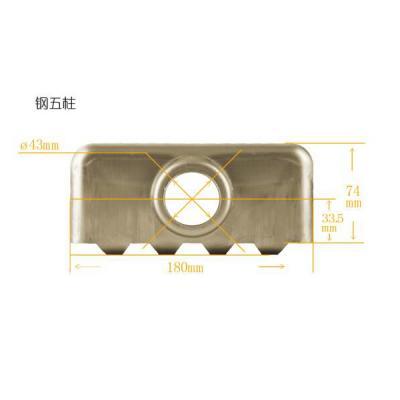 河北散热器片头厂家金鸿达金属钢五柱片头量大从优