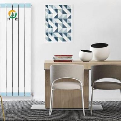 铜铝复合柱翼型散热器安装图 新型家用移动采暖散热器