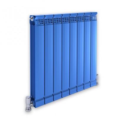 铜铝复合散热器新款80x80蓝色