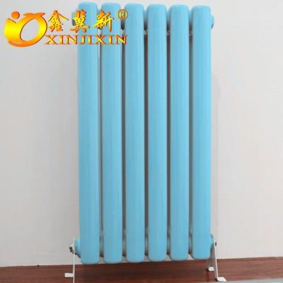 钢制柱形暖气片@QFGZ203钢制圆二柱型散热器厂家直销