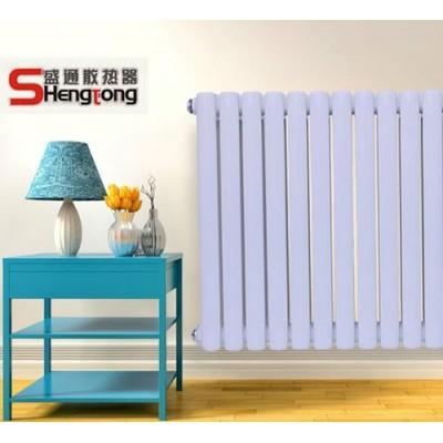 山东钢制绕片管散热器批发 家用暖气片安装