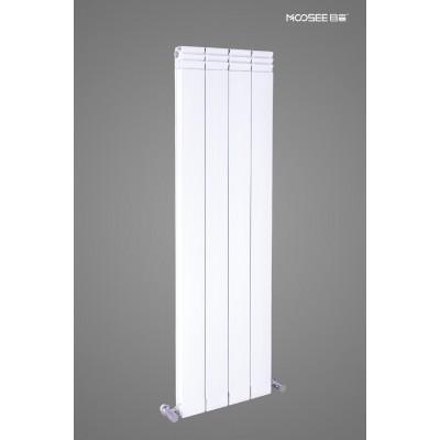 目森铜铝复合散热器114X60防熏墙平面带翅25管