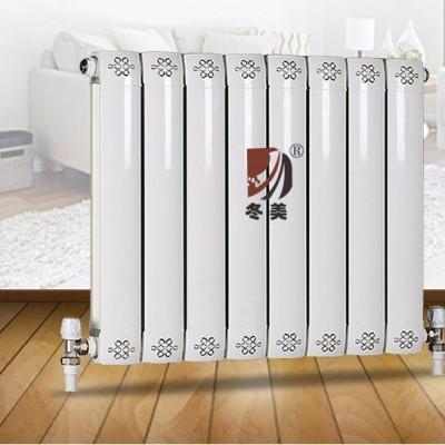 冀州铜铝暖气片生产厂家冬美供应铜铝复合75-75散热器