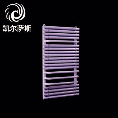 壁挂式铜铝复合圆管背篓采暖散热器(紫色)