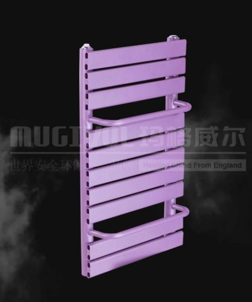 紫色的玛格威尔铜铝复合扁管背篓暖气片