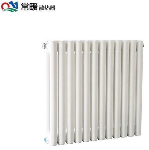 常暖钢制50x25方散热器(白色) 家用暖气片安装