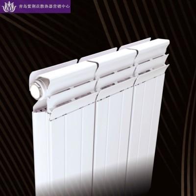 青岛紫荆花暖气片供应商销售铜铝复合132X60防熏墙散热器