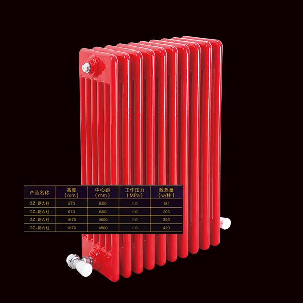 南昌柯睿普散热器供应商批发销售家用钢六柱散热器