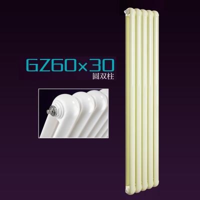 钢制60x30圆双柱散热器厂暖居仕 家用暖气片样式
