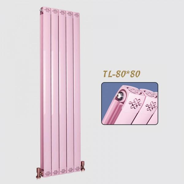 圣蒂罗澜防熏墙纯紫铜管壁挂铜铝复合80x80暖气片
