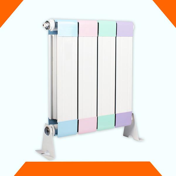 新款立式暖气片 金萝莉铜铝复合散热器安装 壁挂式水暖片