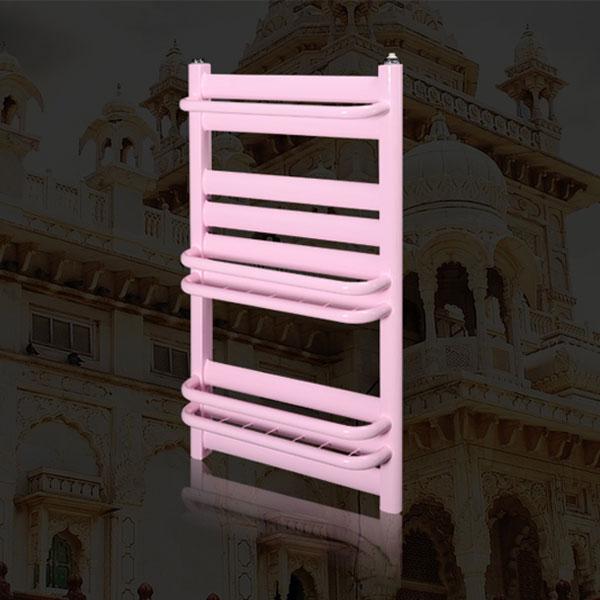 德朗克卫生间暖气片 壁挂低碳钢小背篓散热器 粉红色 800