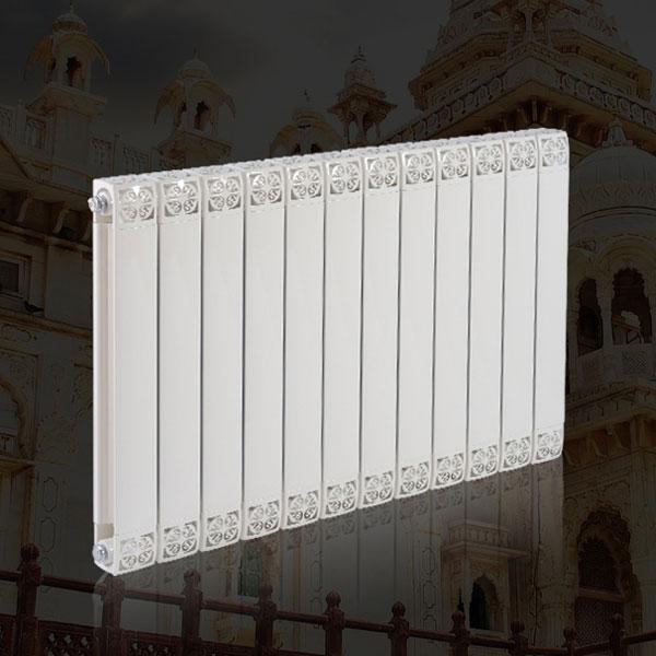 德朗克铜铝复合暖气片 水暖壁挂式散热器 85/75 白色