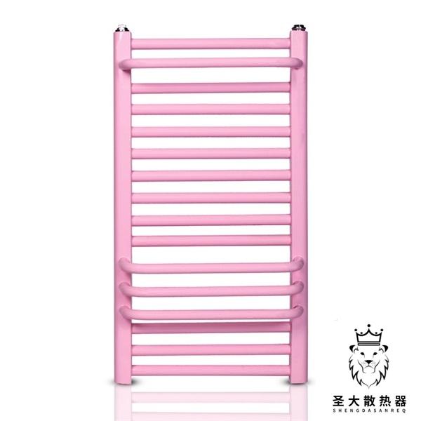 钢制25圆管背篓散热器 毛巾架置物架 家用卫生间暖气片