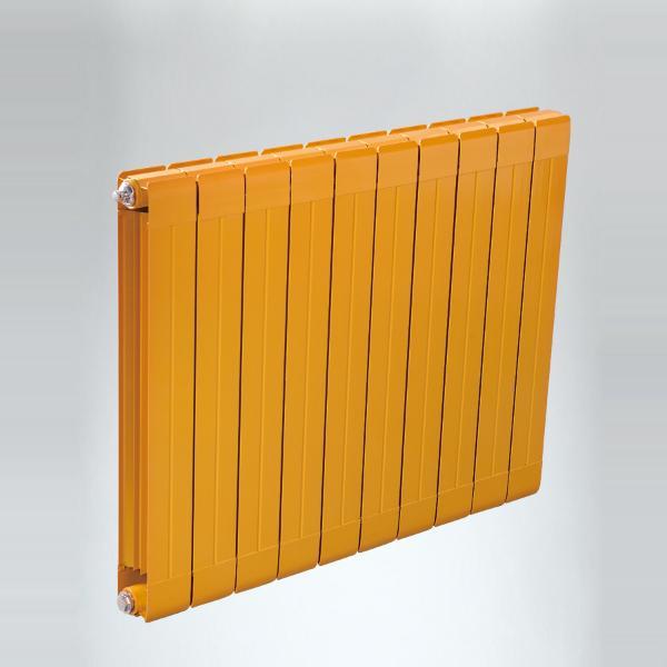元捷达 家用壁挂铜铝复合大水道散热器 暖气片型号75x75