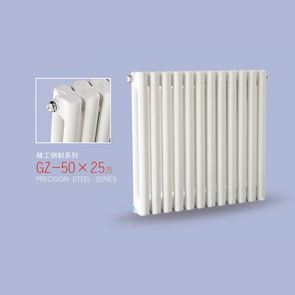 暖气片家用钢制水暖散热器50x25方片头系列