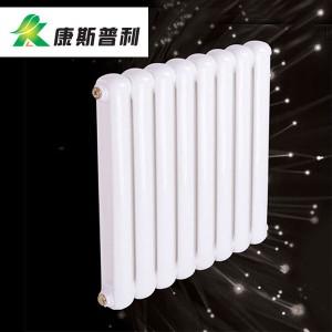 康斯普利钢制70x30方圆双柱散热器 家用钢制白色小款暖气片