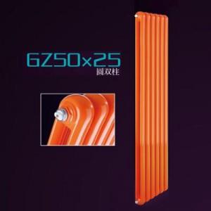 石家庄暖居仕钢制50x25圆双柱家用水暖内防腐散热器