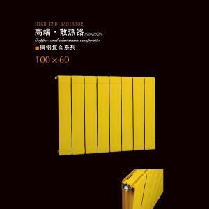 唐山津生采暖铜铝复合100x60卧室可客厅散热器