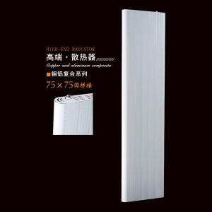 洛阳津生铜铝复合75X75圆拼接散热器自采暖厂家直销