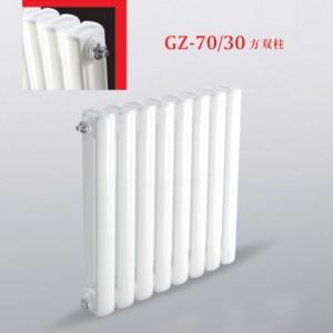 九叶钢制70x30方片头散热器