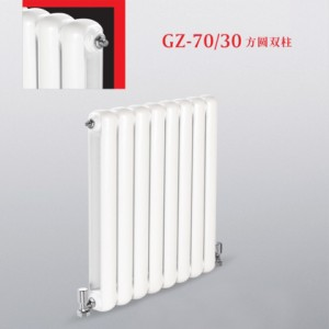 厂家钢制暖气片70x30方圆双柱