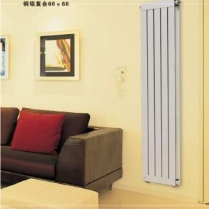 银川铜铝复合60×60散热器厂家