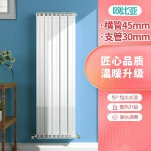 欧比亚家用铜铝复合散热器片防熏墙90x90高/横管45支